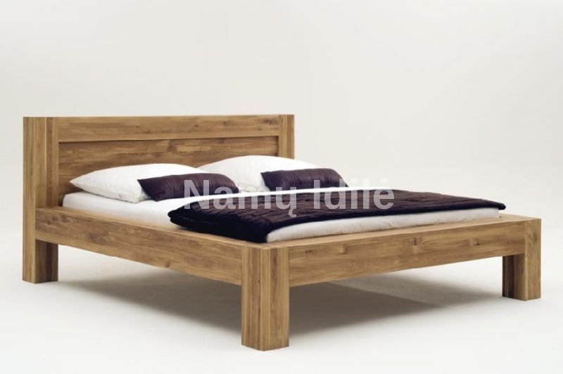 "Medinė lova ""BONA"". Masyvo mediniai baldai. Medinės lovos. Masyvi lova. Didelė lova."