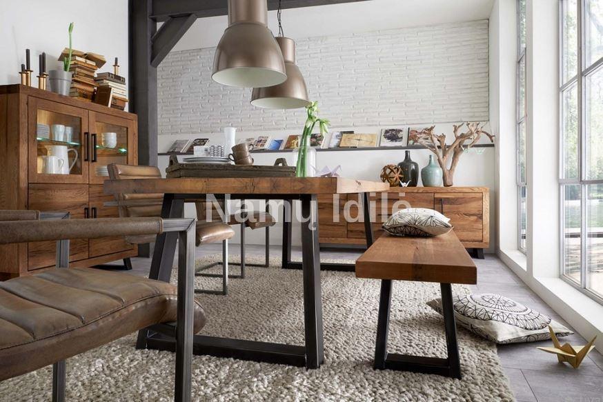 """Ąžuolinis stalas """"VILA"""". Masyvo mediniai baldai iš ąžuolo."""