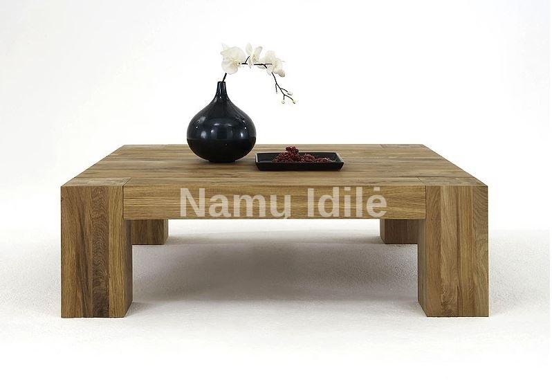 Ąžuolinis kavos staliukas BONA. Mediniai stalai