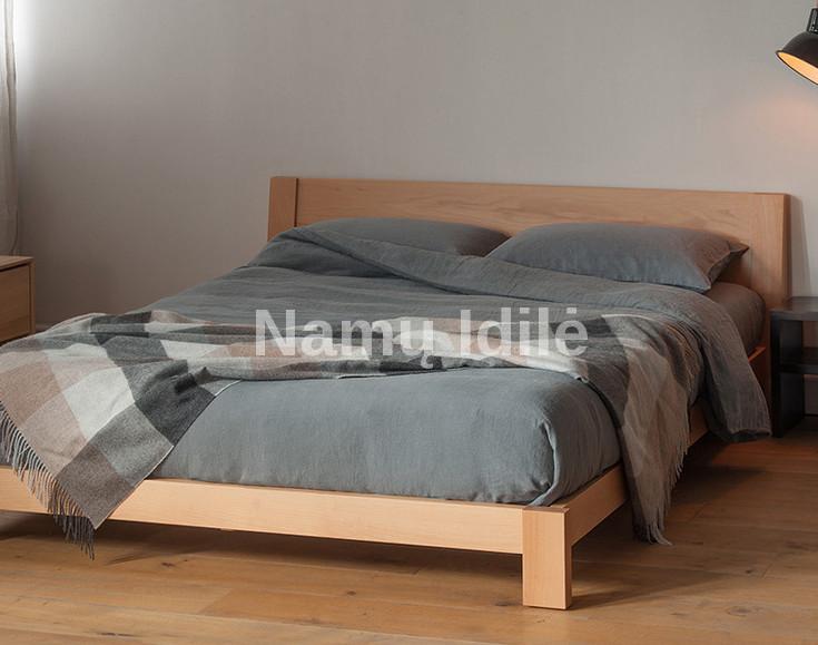 "Medinė lova ""ELITE"". Masyvo mediniai baldai. Medinės lovos. Pigi lova."