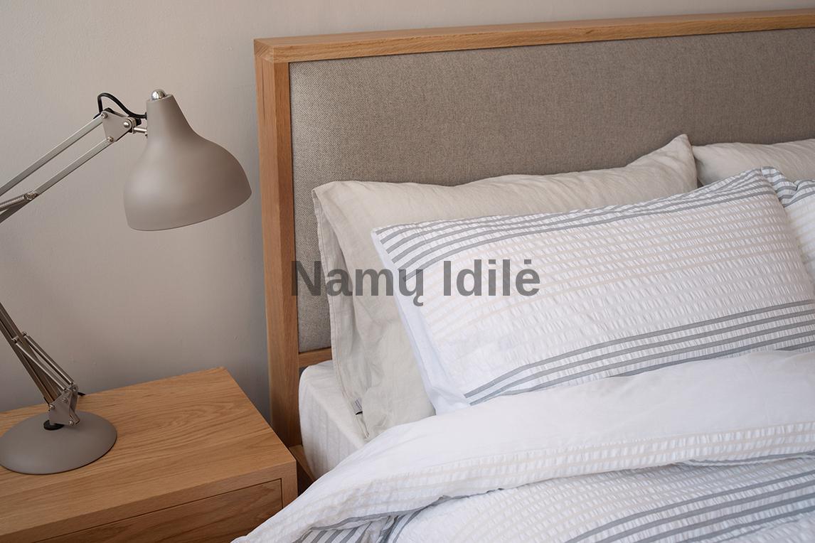 """Medinė lova """"MARGO"""". Masyvo mediniai baldai. Medinės lovos. Ąžuolinės lovos."""