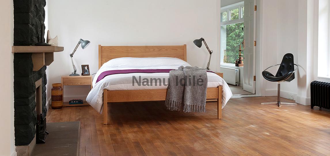 """Medinė lova """"SARA"""". Masyvo mediniai baldai. Medinės lovos. Pigios lovos."""