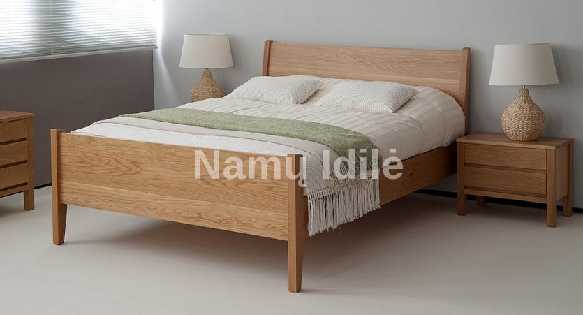 """Medinė lova """"SARA"""". Masyvo mediniai baldai. Medinės lovos. Uosinė lova."""